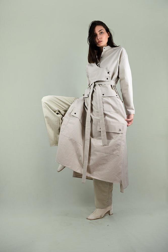 Manteau style K-way long