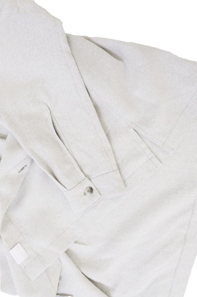 Chemise en cantra blanc cassé