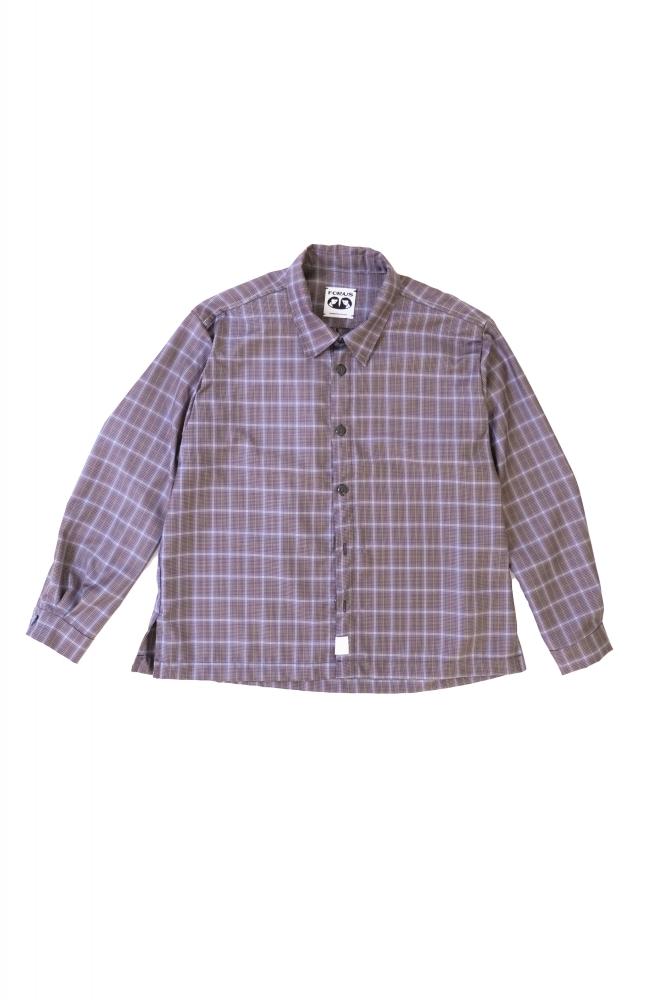 Chemise à carreau magenta