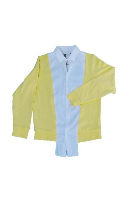 Chemise sweat bicolore (blanc/jaune)