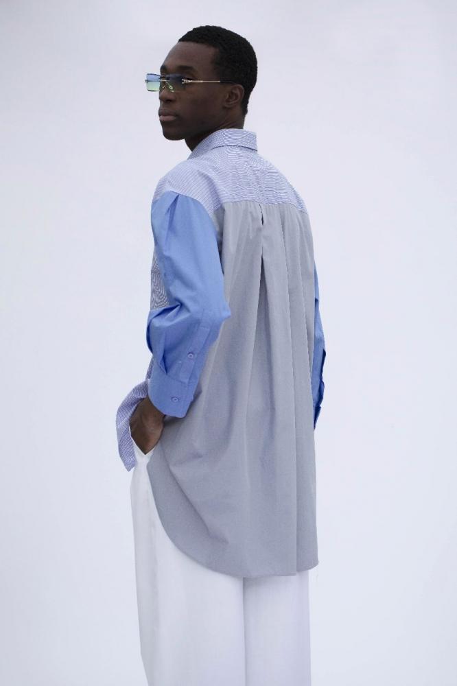 Chemise Jil Rayée Bleue