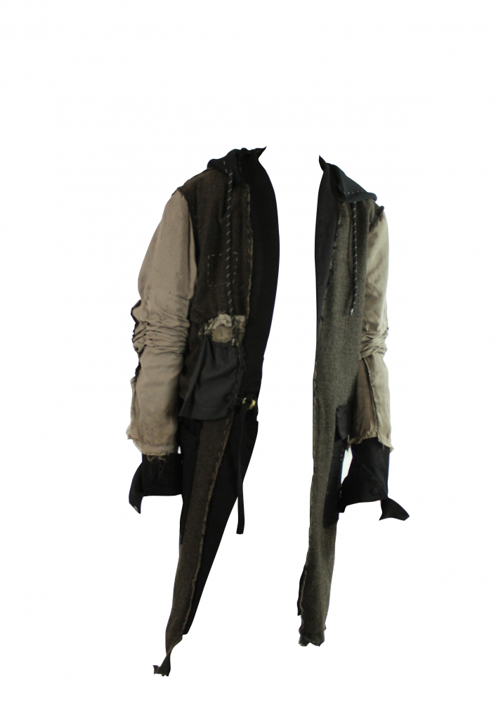 Manteau destructuré