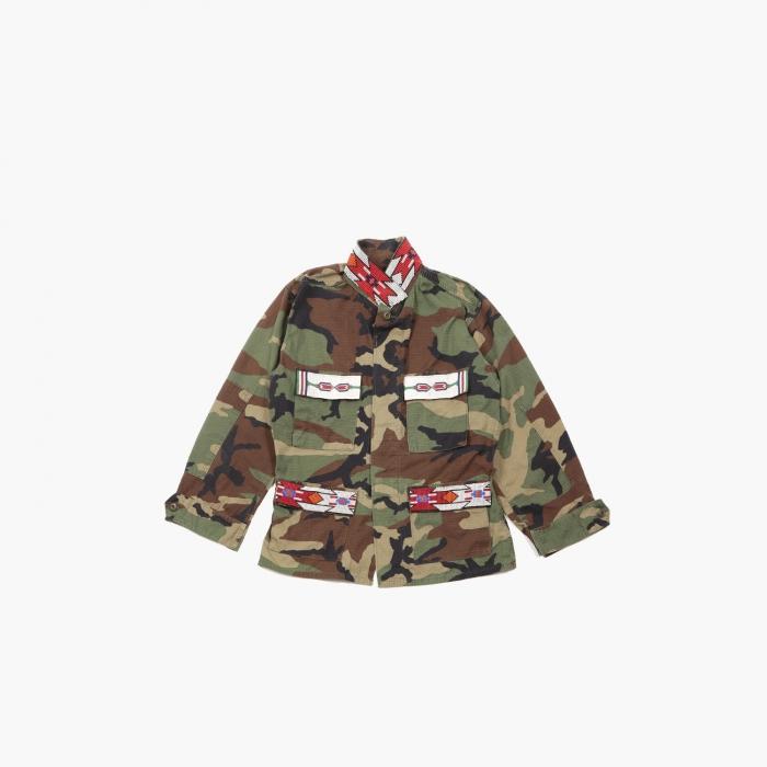 Veste camouflage militaire M65 perlée