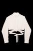 """Crop chemise upcyclée  \""""Le Christian Dior\"""""""