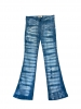 Jean flare tie and dye bleu