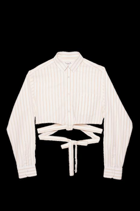 Crop chemise upcyclée