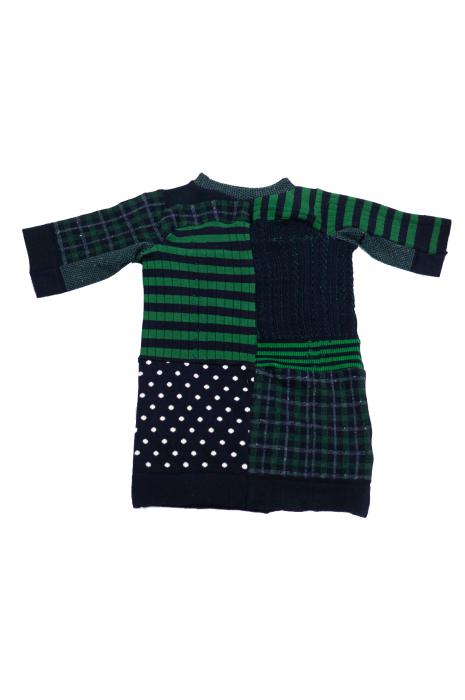Top chaussettes à patchwork vert