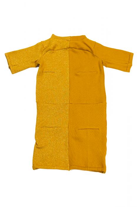 Top chaussette Bicolore jaune et orange