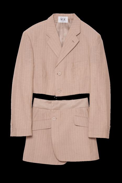 Tailleur jupe/pantalon  upcyclé