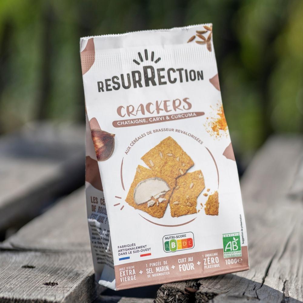 Crackers Bio Châtaigne, Curcuma & Carvi