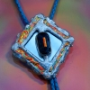 Flame Dimension Bolo Tie