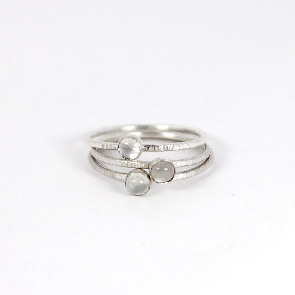 Moonstone Stacking Rings