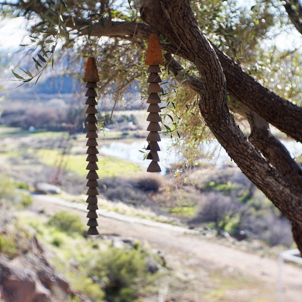 Bells of Arcosanti Long Dangle Earrings