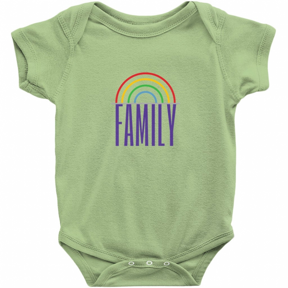 Family Bodysuit, Two Moms, Two Dads, LGBTQ+ Family, Rainbow Family, Pride, We Are Family, Baby Clothing, Onesies, Gender Neutral, Unisex