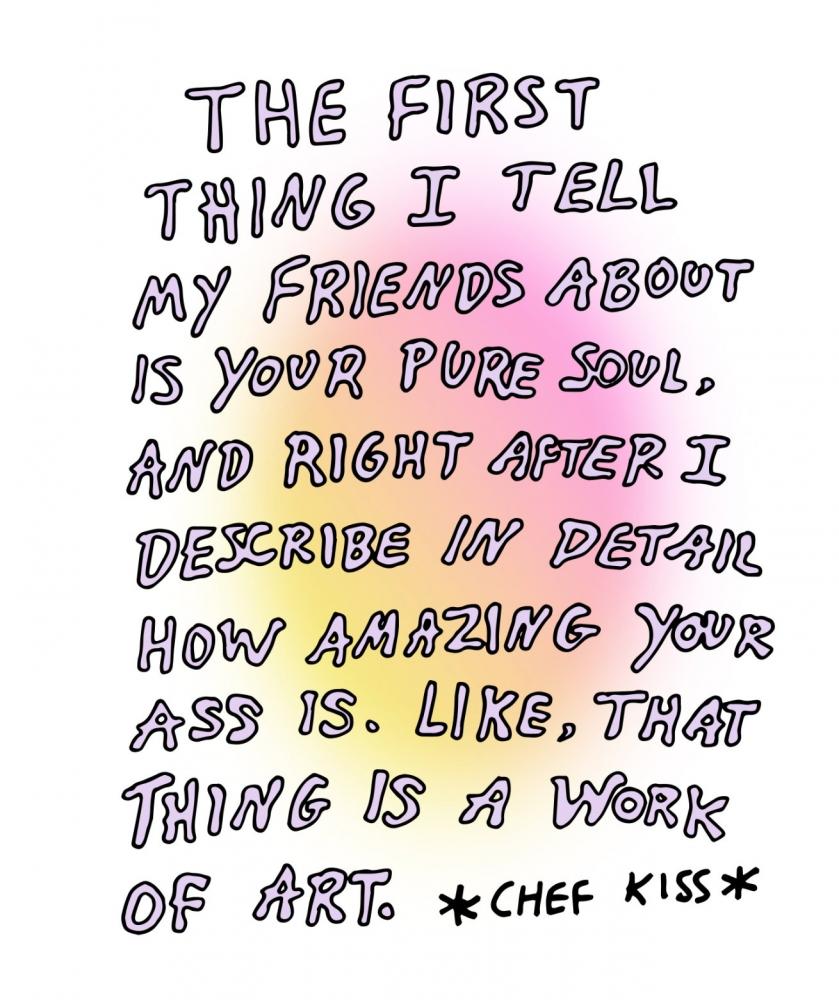 Amazing Ass Greeting Card | A2 + Kraft Envelope | Blank Inside | Chef Kiss
