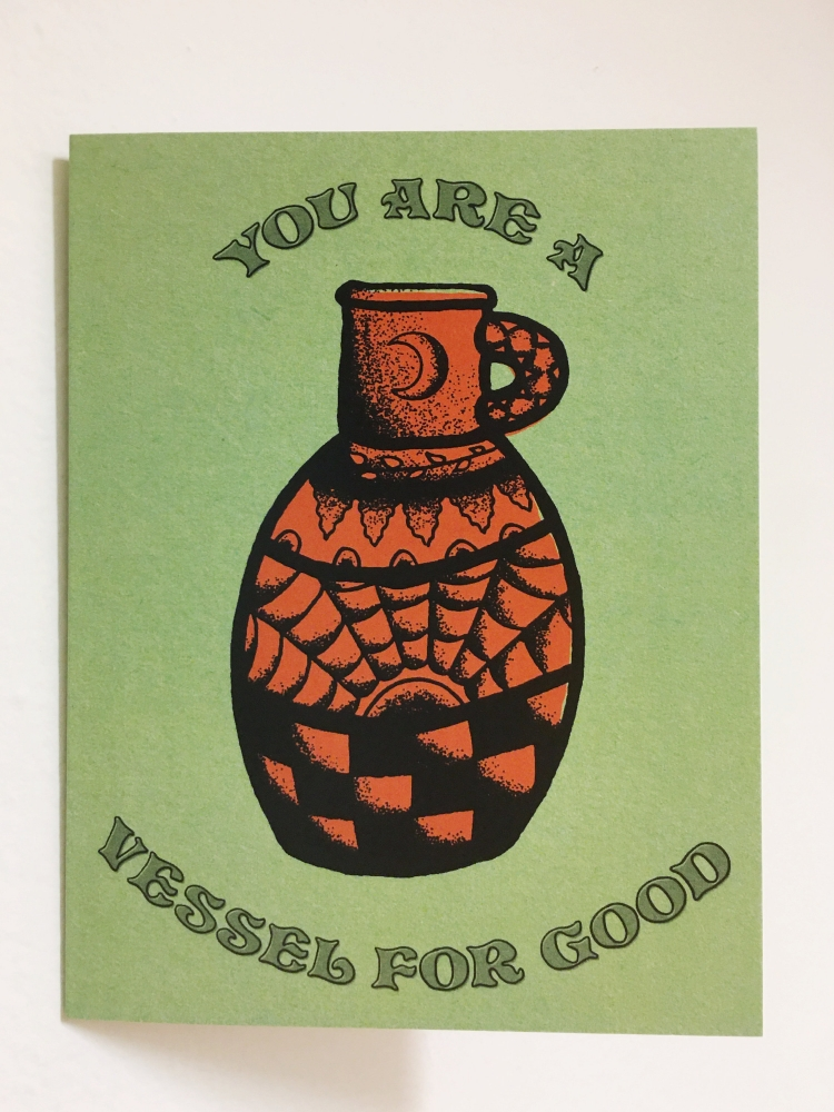 You Are A Vessel For Good Greeting Card | A2 + Kraft Envelope | Blank Inside | Love & Friendship