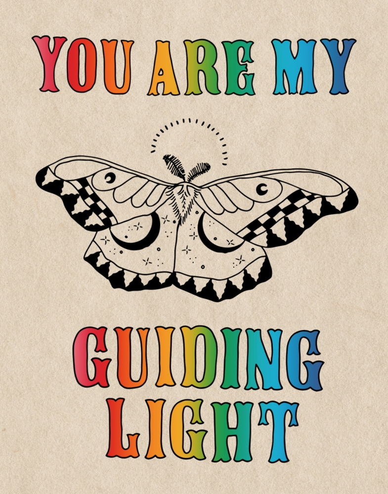 You Are My Guiding Light Greeting Card   A2 + Kraft Envelope   Blank Inside   Love & Friendship