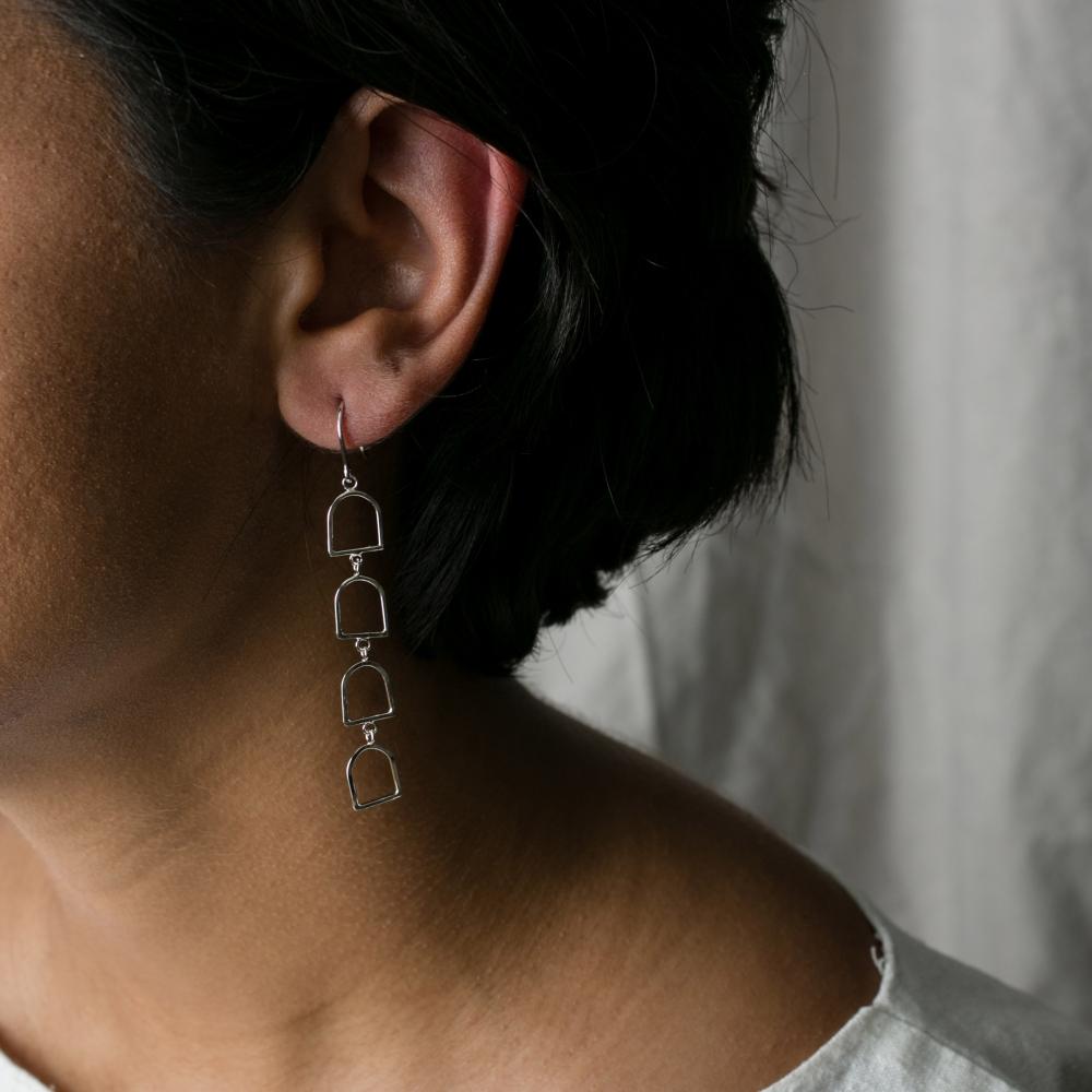 Bells of Arcosanti Short Dangle Earrings
