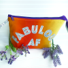 FABULOUS AF Open Wide Zip Pouch — LARGE