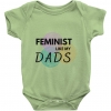 Feminist Like My Dads Bodysuit, Two Dads Onesie, I Love My Dads Baby Clothing, LGBTQ+ Parents, Gay Couple, Gender Neutral, Unisex