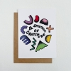 Spectrum Of Gratitude Greeting Card | A2 + Kraft Envelope | Blank Inside - Thank You