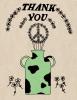 Thank You Peace Vase Greeting Card | A2 + Kraft Envelope | Blank Inside | Love & Friendship