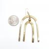 Brass Rainbow Arch Earrings- Large