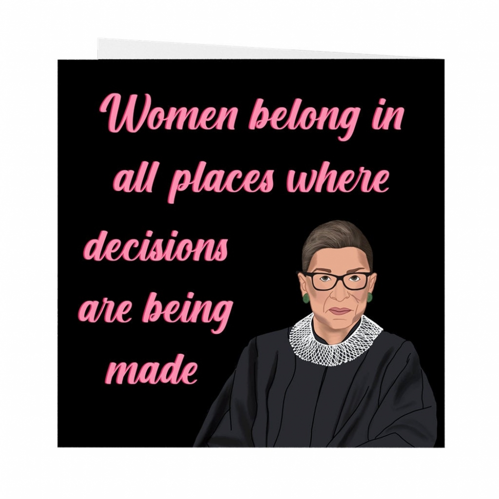 Folded Cards : Rbg Ruth Bader Ginsburg Quote