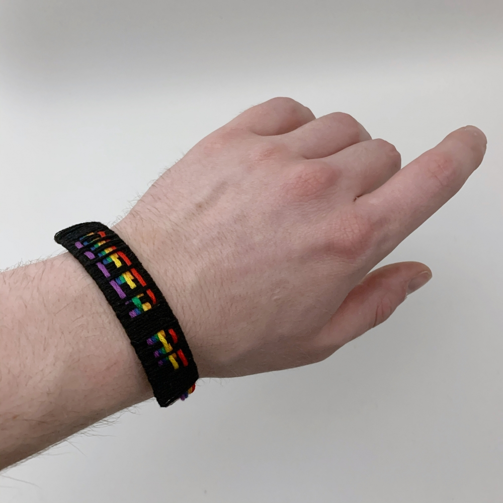 QUEER AF Friendship Bracelet (Black)