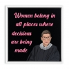 Framed Canvas Wraps : Rbg Ruth Bader Ginsburg Quote