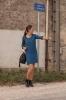 Robe Pippa bleu pétrole