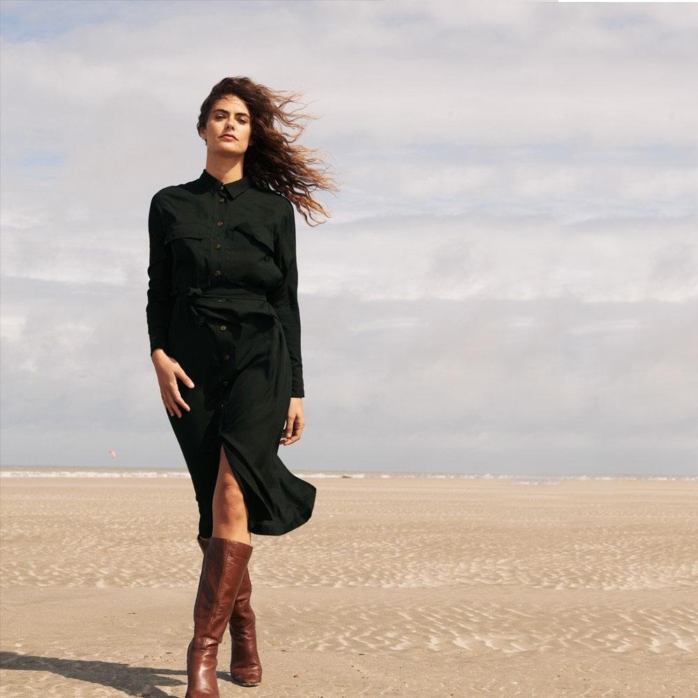 Robe Birgit Kaki GRACE & MILA