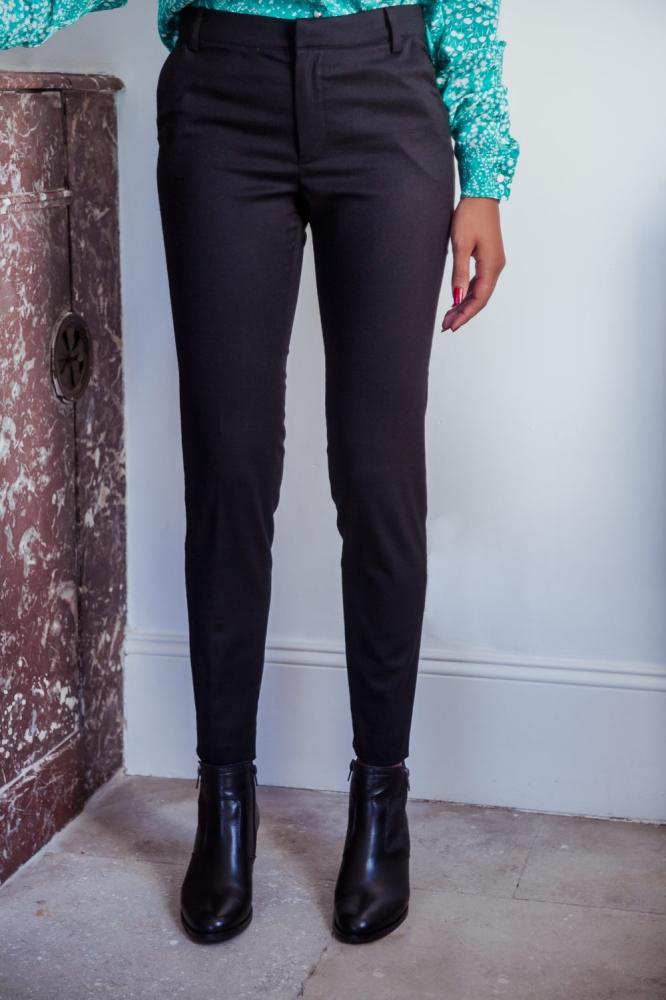 Pantalon Michael noir en laine