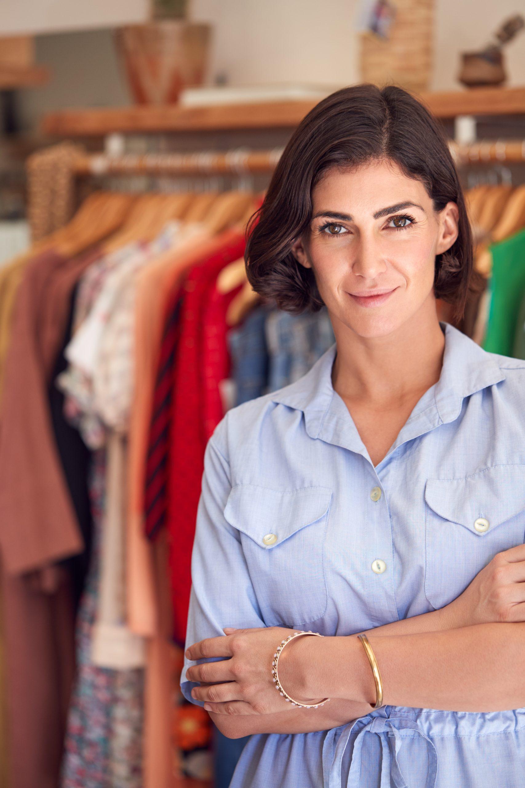 Portrait d'une commerçante