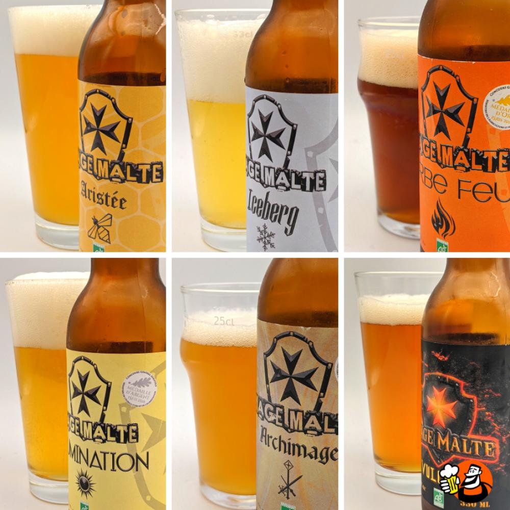 Coffret bières Bio - 6x33cl