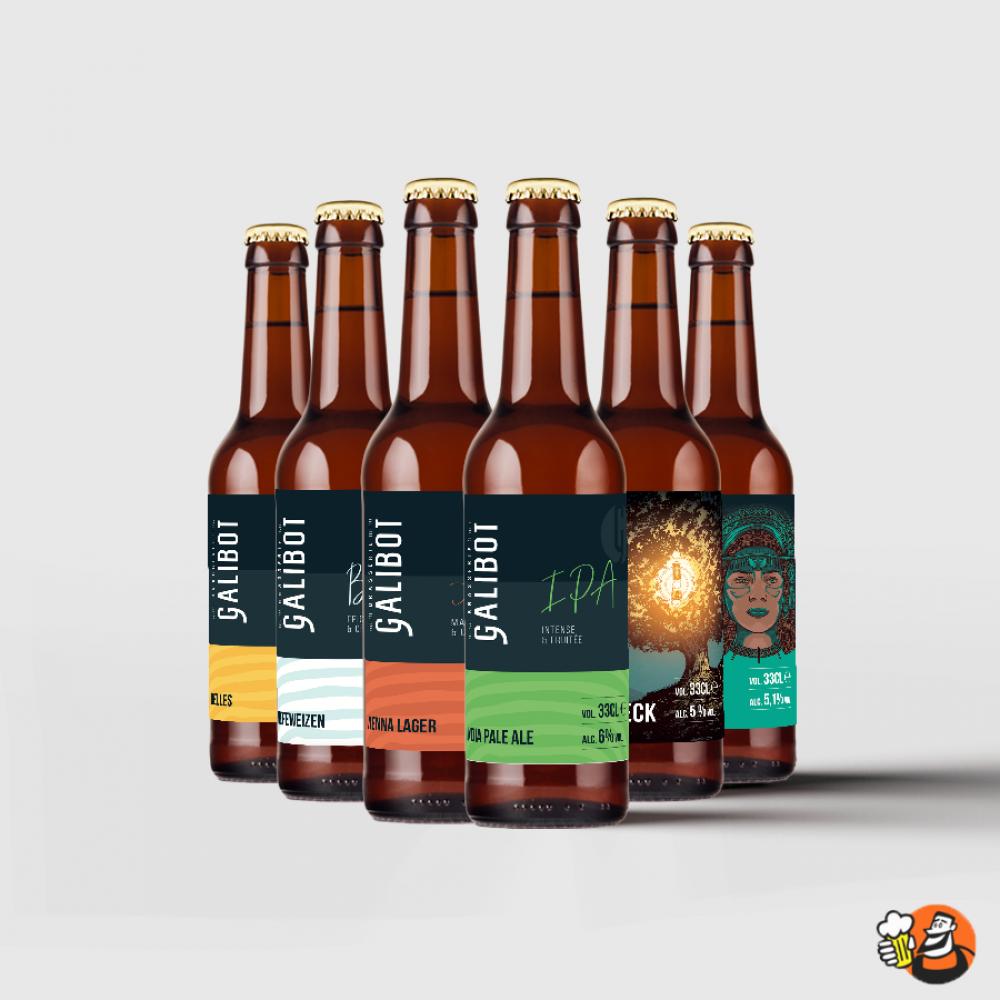 Coffret de bières - Easy rider 6x33cl