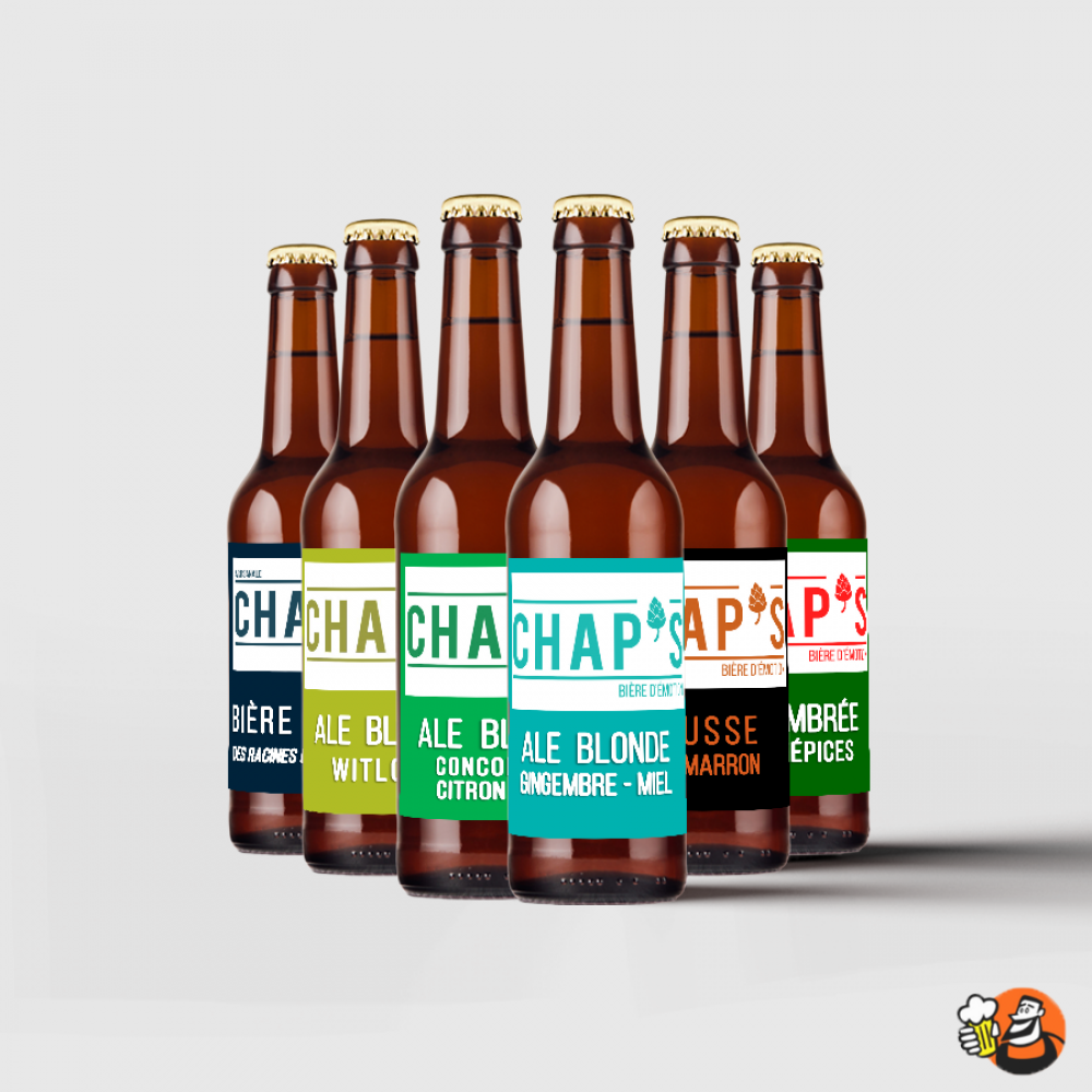Coffret de bières - Insolite Chap's 6x33cl