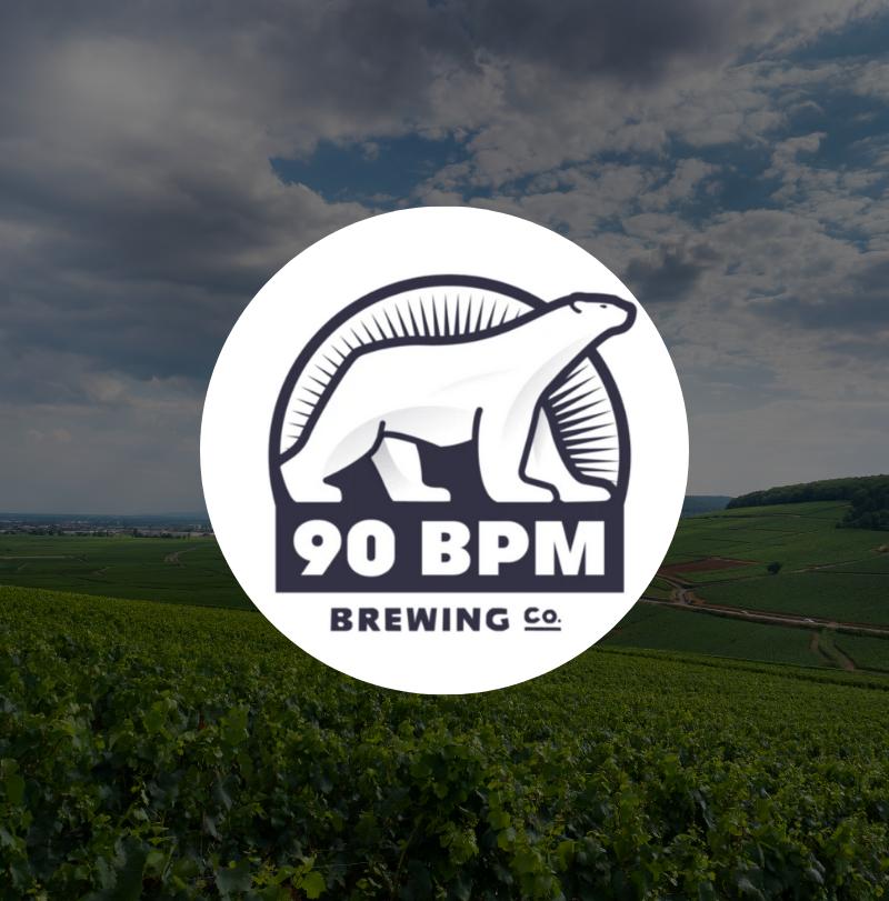 90 BPM Brewing Co. logo