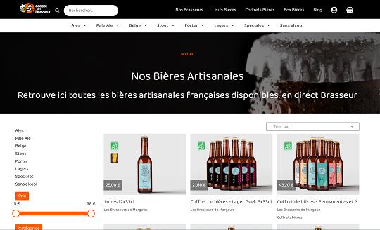 boutique de bieres artisanales en ligne