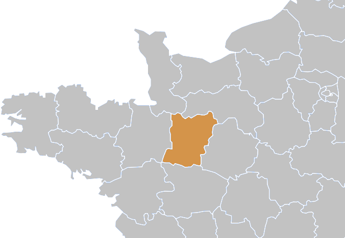 Localisation de la Mayenne