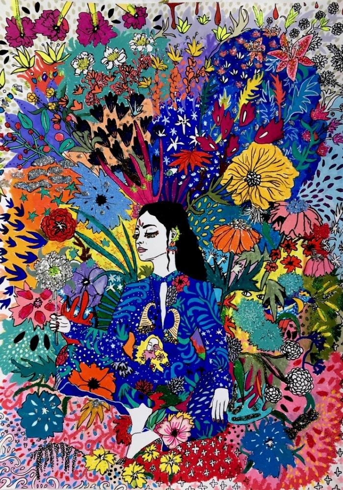 La Reine - Artprint