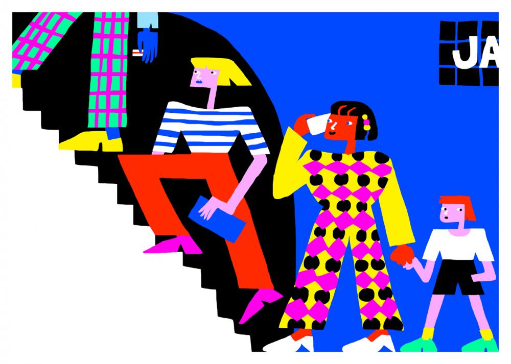 Métro Jaurès - Tirage d'art