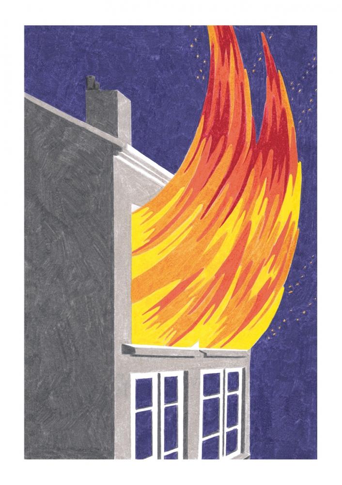 Incendie à Lyon