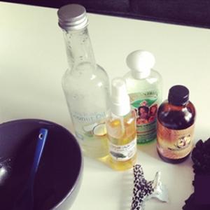 Recette de bain d'huile pour la pousse des cheveux