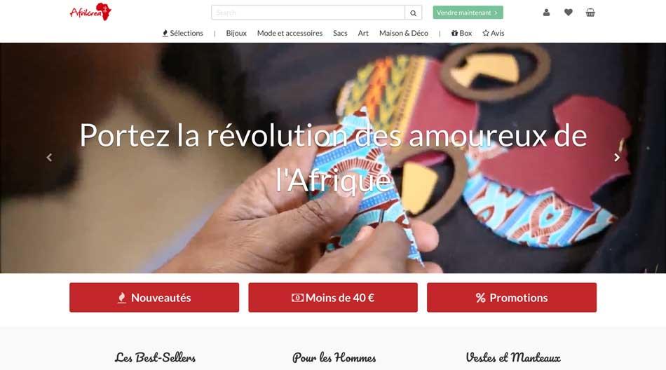 Afrikrea marketplace artisanat et mode africain