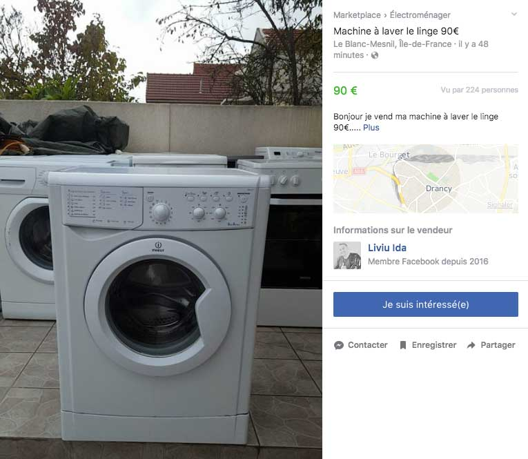 annonce facebook marketplace