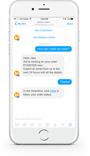 customer support chat bot