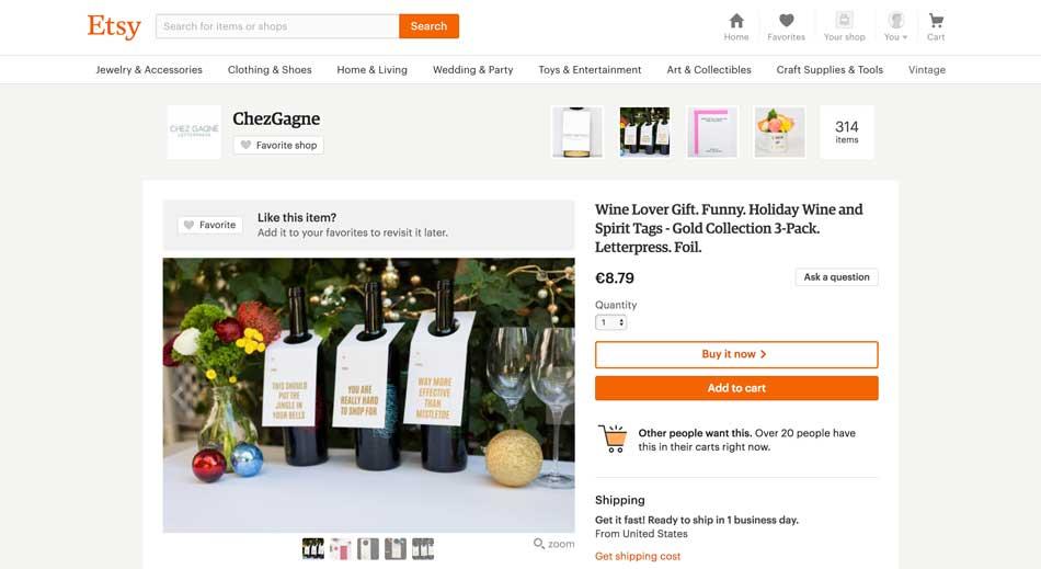 Etsy marketplace artisanat, créateur, vintage