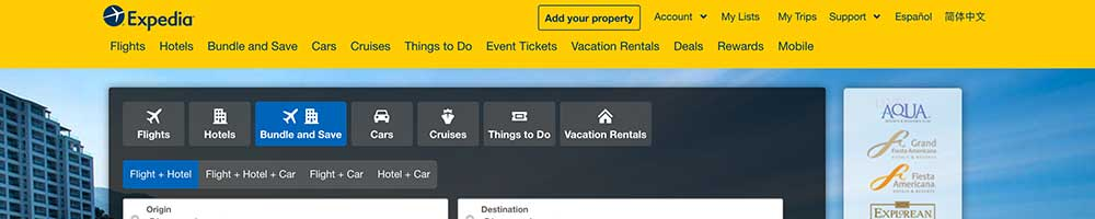 Expedia activities and tours marketplace