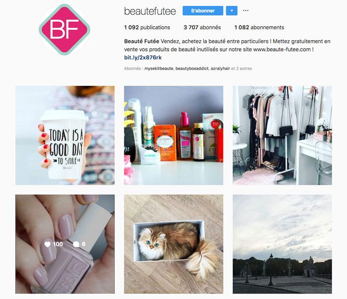 Instagram Beauté Futée
